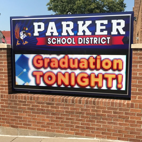 School Sign for Parker Public School