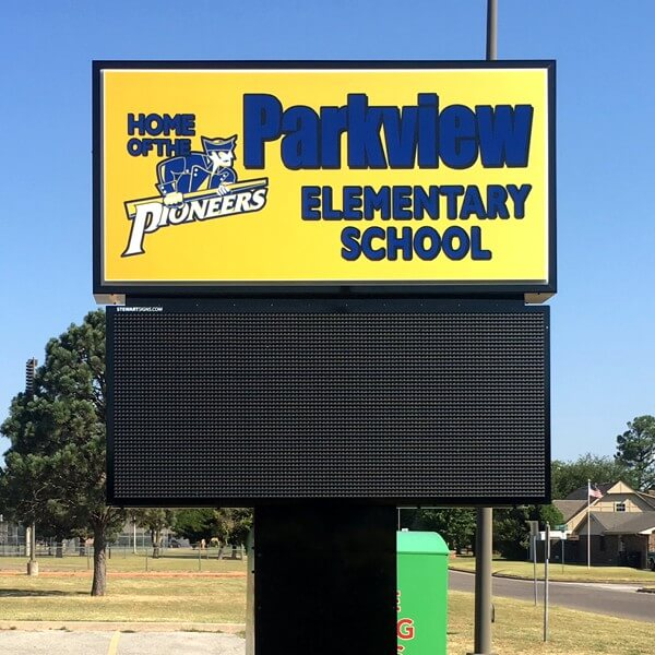 School Sign for Parkview Elementary School
