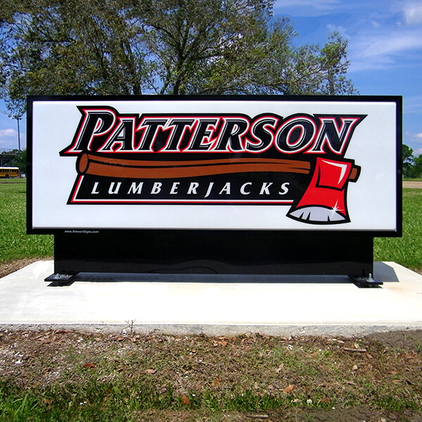 School Sign for Patterson Senior High School