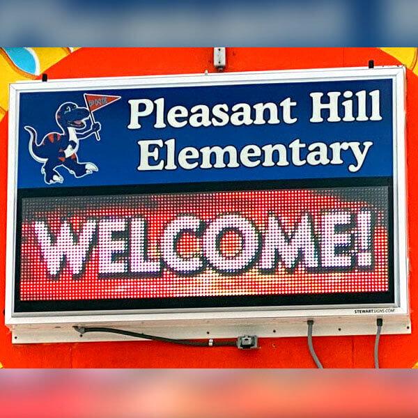 School Sign for Pleasant Hill Elementary School