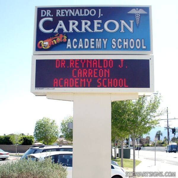 School Sign for Dr Reynaldo J Carreon Academy