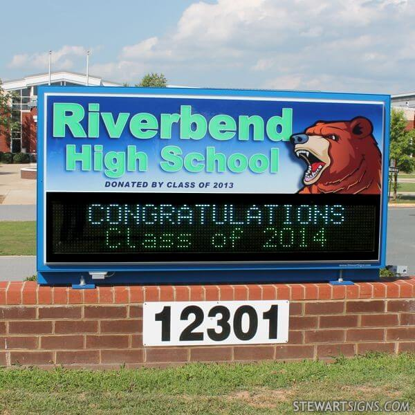 School Sign for Riverbend High School