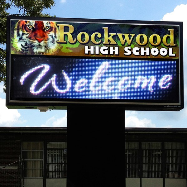 School Sign for Rockwood High School