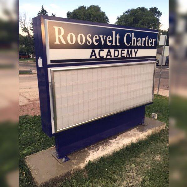 School Sign for Roosevelt-edison Charter School