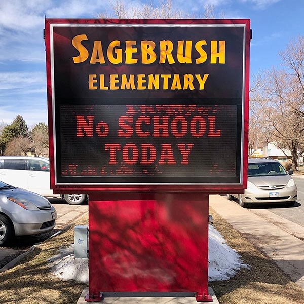 School Sign for Sagebrush Elementary