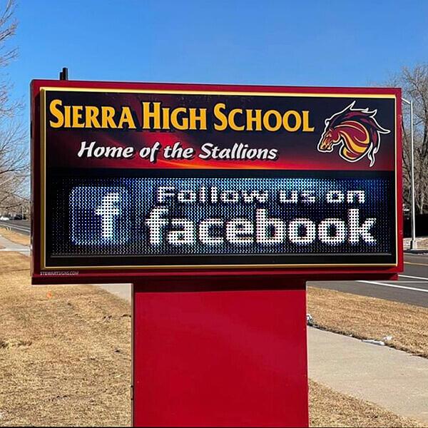 School Sign for Sierra High School