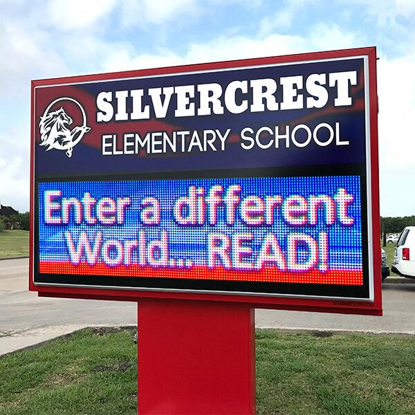 School Sign for Silvercrest Elementary School