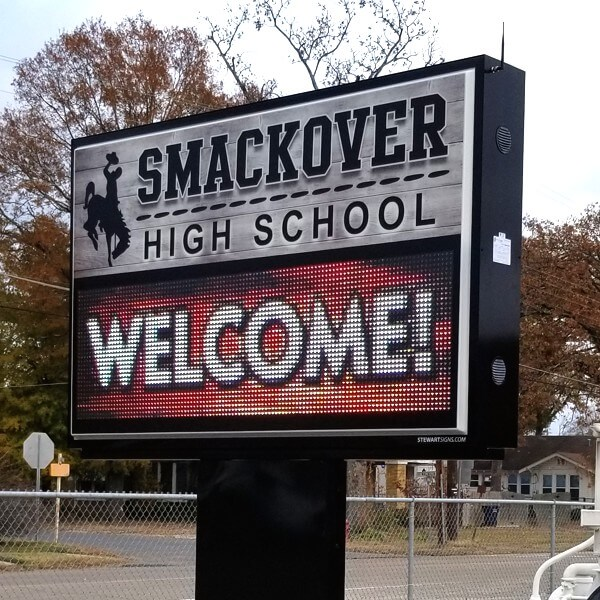 School Sign for Smackover High School