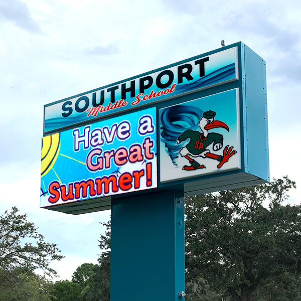 School Sign for Southport Middle School