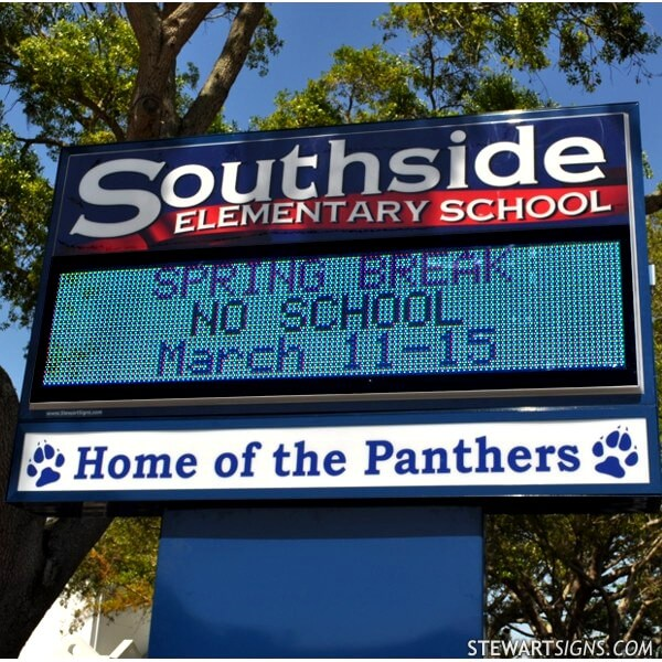 School Sign for Southside Elementary School