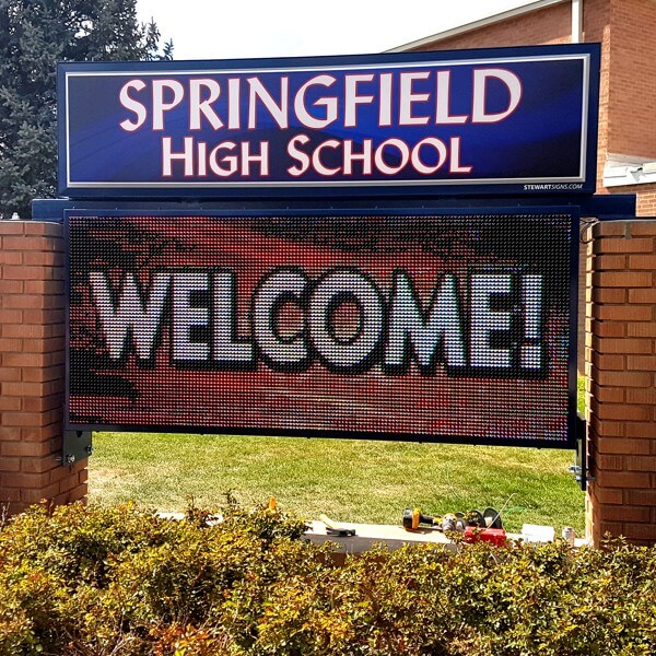 School Sign for Springfield High School