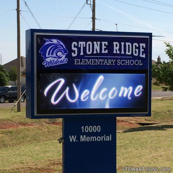 School Sign for Stone Ridge Elementary School