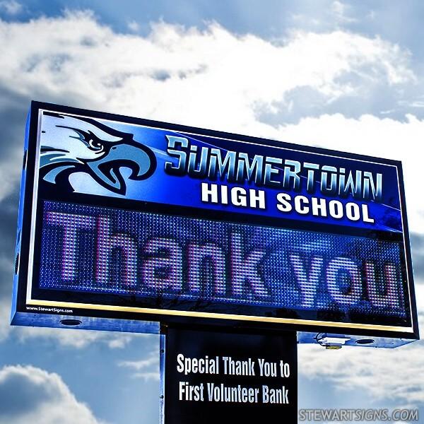 School Sign for Summertown High School