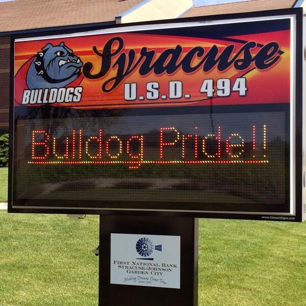 School Sign for Syracuse Jr Sr High School