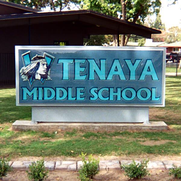 School Sign for Tenaya Middle School