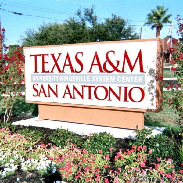 School Sign for Texas A & M University - Kingsville