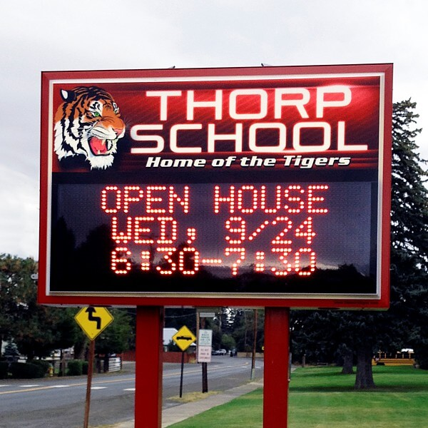 School Sign for Thorp School District #400