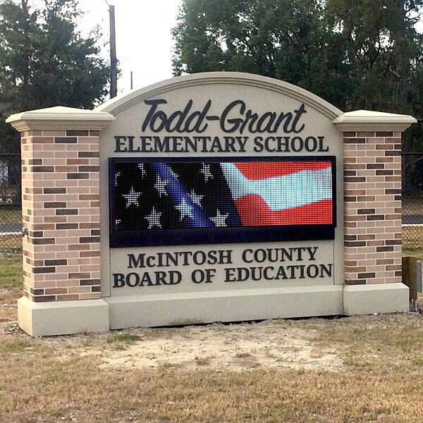 School Sign for Todd-grant Elementary School