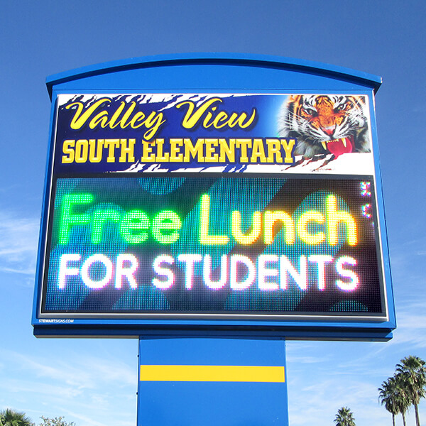 School Sign for Valley View South Elementary School