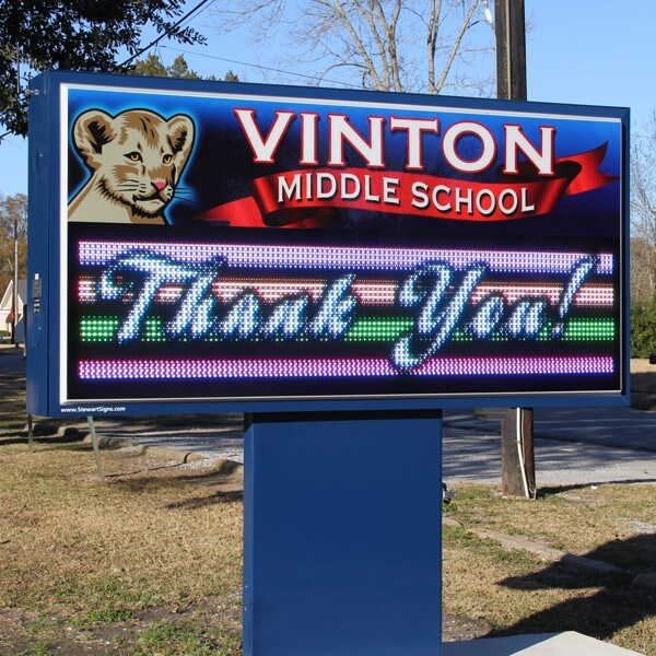 School Sign for Vinton Middle School