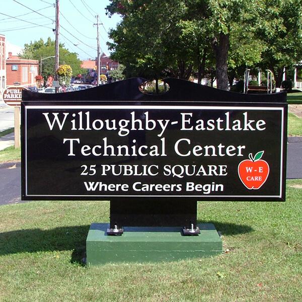 School Sign for W - E Technical Center