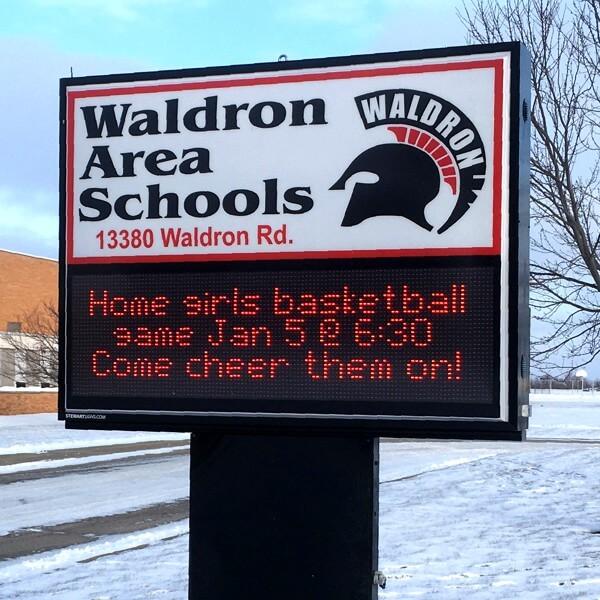 School Sign for Waldron Area Schools