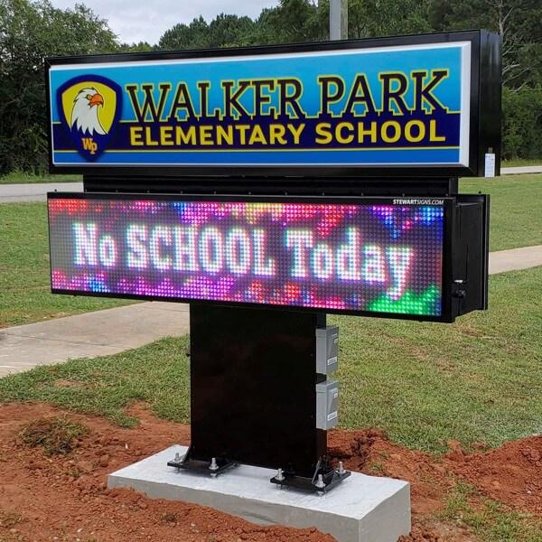 School Sign for Walker Park Elementary School