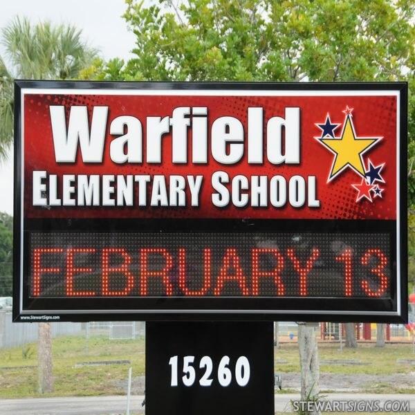 School Sign for Warfield Elementary School