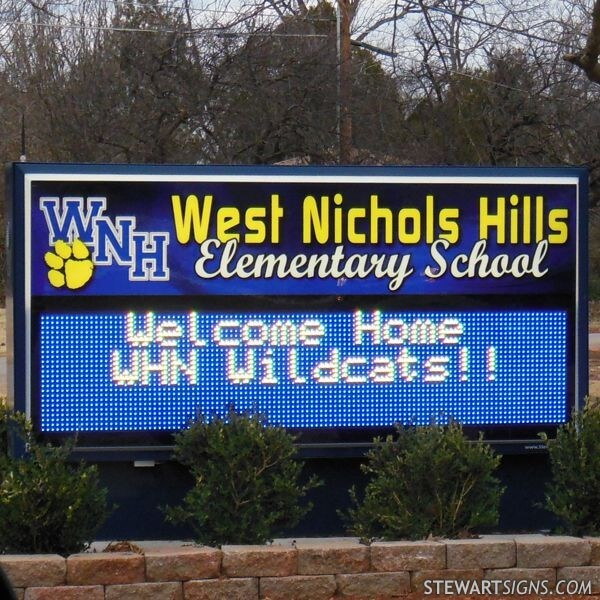 School Sign for West Nichols Hills Elementary