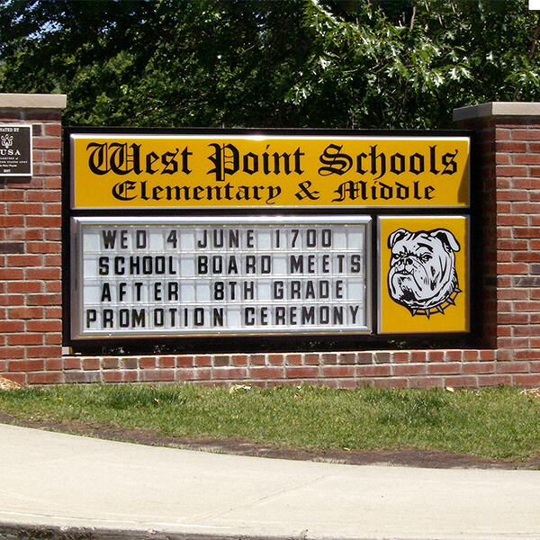 School Sign for West Point Schools
