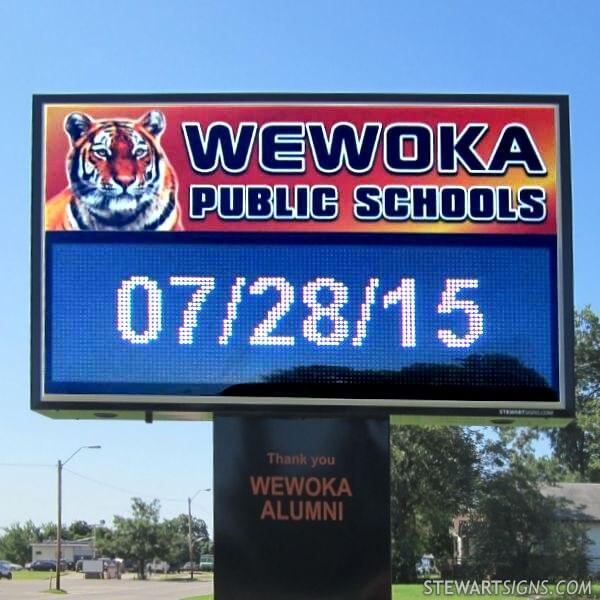 School Sign for Wewoka High School