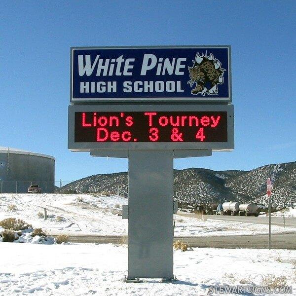 School Sign for White Pine High School