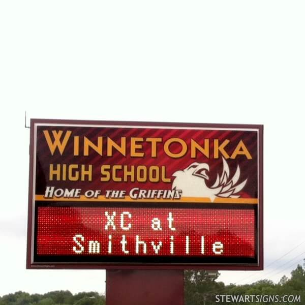 School Sign for Winnetonka High School