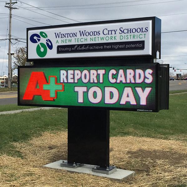 School Sign for Winton Woods City Schools