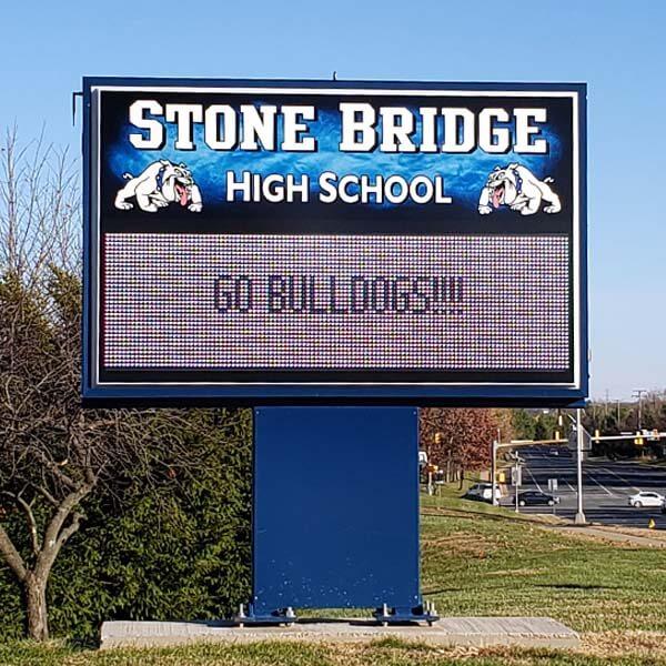 School Sign for Stone Bridge High School